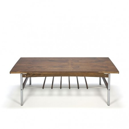 Coffee table with reversible rosewood top