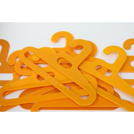 Plastic clothes hook yellow