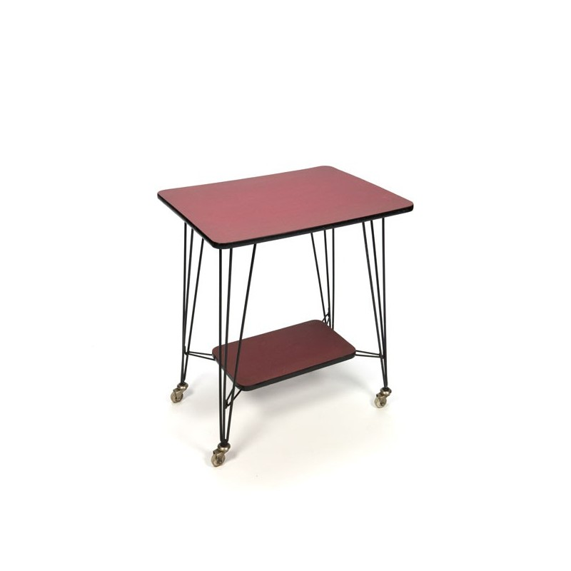 Side table/ trolley from the fifties with lower shelf
