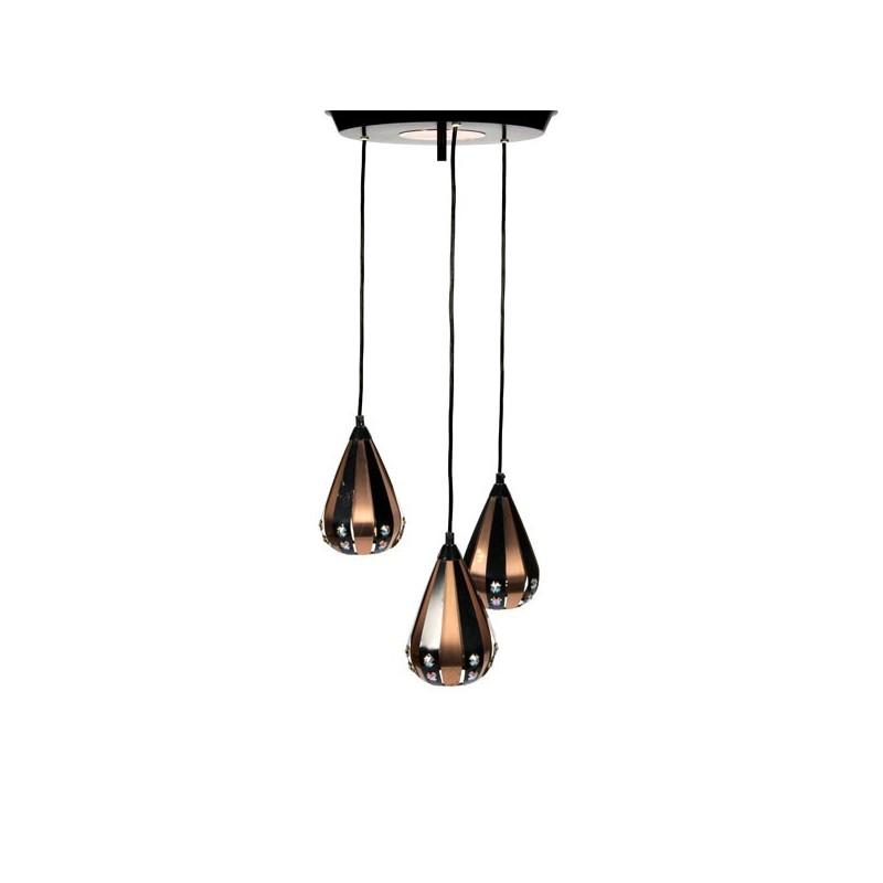 Hanglamp met 3 kelken ontwerp Werner Schou