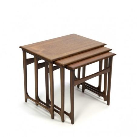 Luxury Danish set of 3 nesting tables in teak
