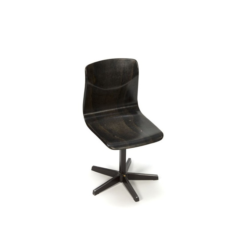 Small brown school chair on star base