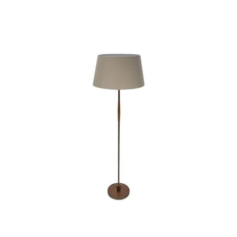 Danish standing floor lamp with teak details