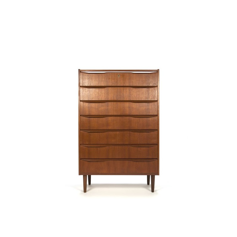 Danish dresser with 7 drawers in teak