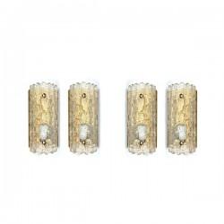 Set van 4 wandlampen ontwerp Carl...