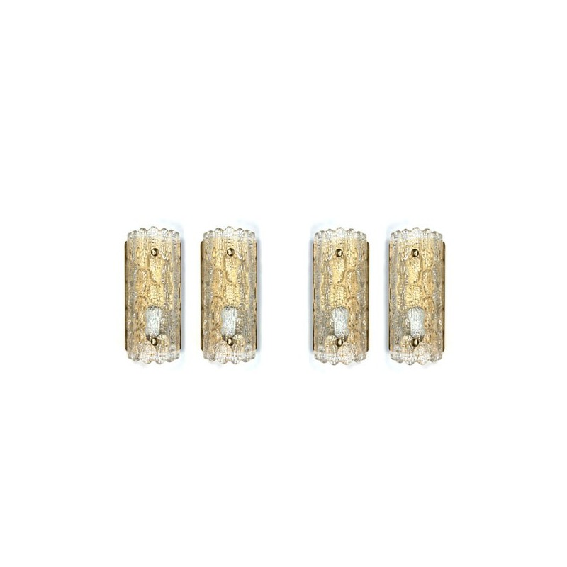 Set of 4 sconces design Carl Lagerlund for Orrefors