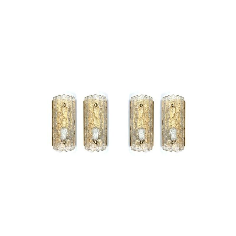 Set van 4 wandlampen ontwerp Carl Fagerlund voor Orrefors
