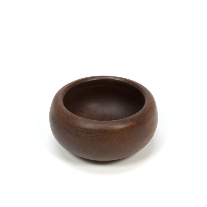 Teak bowl with thick edge