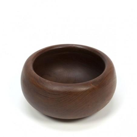 Teak bowl with thick edge