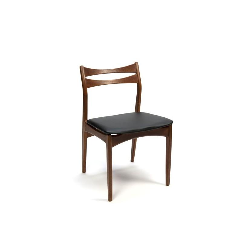 Set van 6 Deense design eettafel stoelen