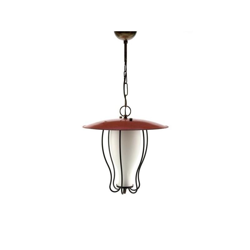 Lantaarn model hanglamp uit de 1950's