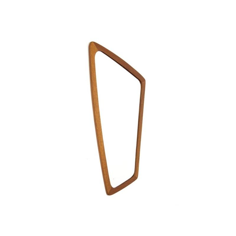 Teak mirror with organic design