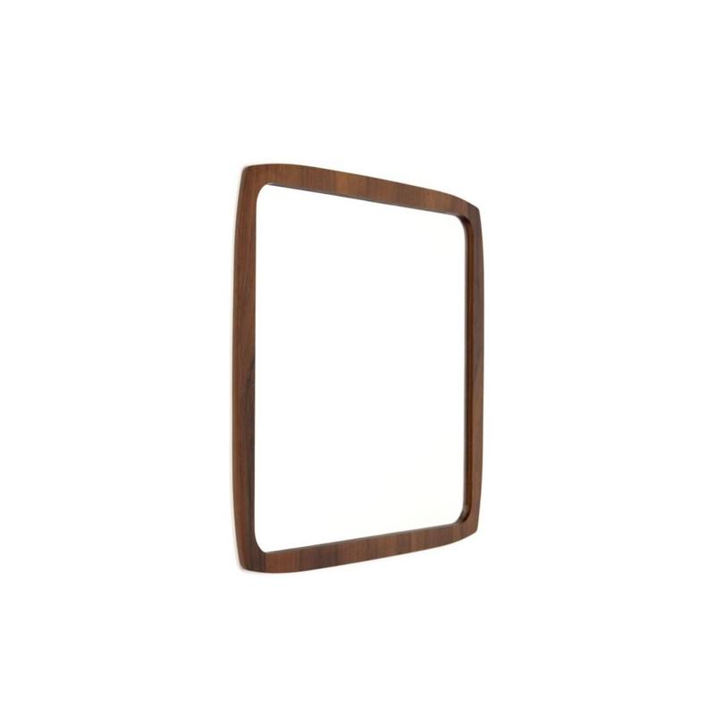 Deense design spiegel in palissanderhout