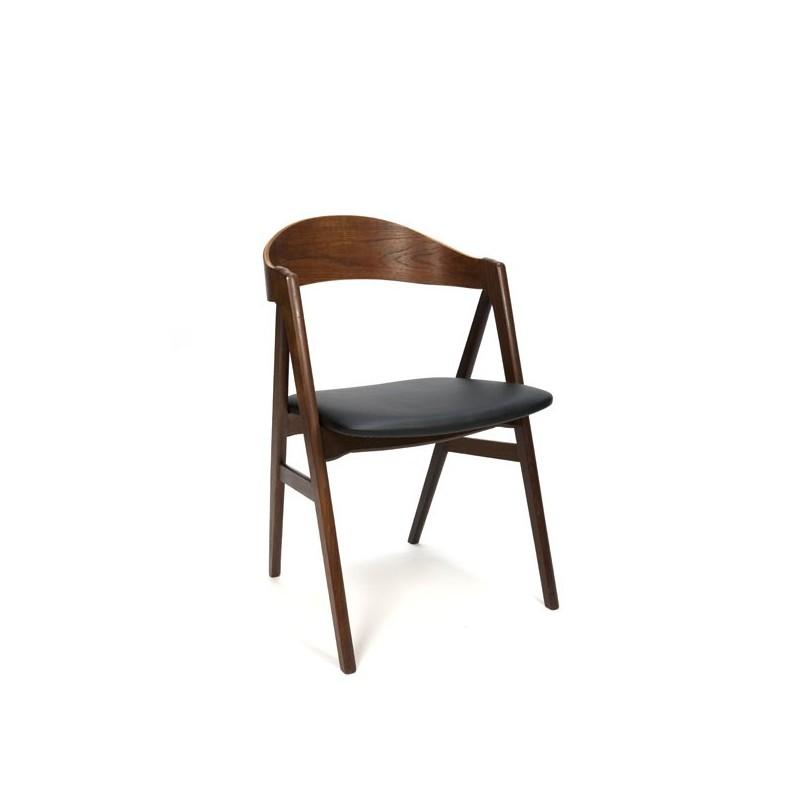 Deense bureau-/ eettafel stoel teak