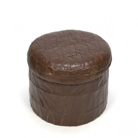 Brown pouf with removable top