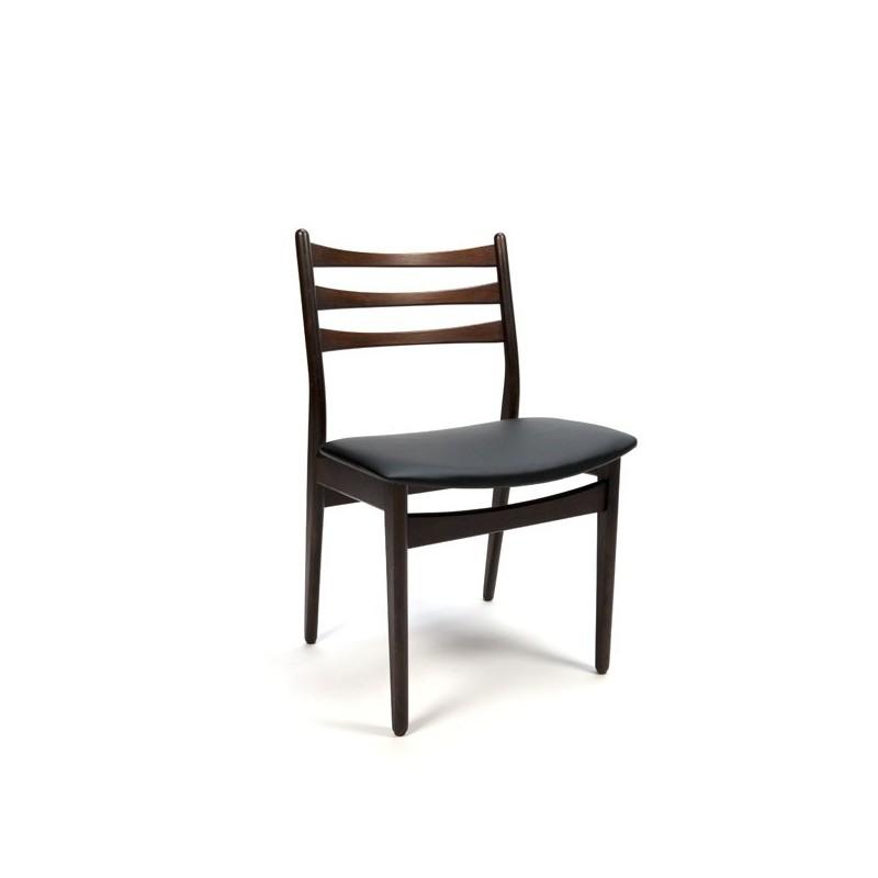 Set van 6 Deense eettafel stoelen Palissander rugleuning