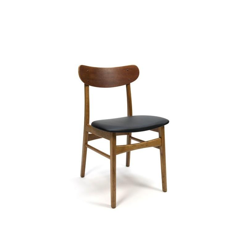 Set van zes Deense teakhouten eettafel stoelen