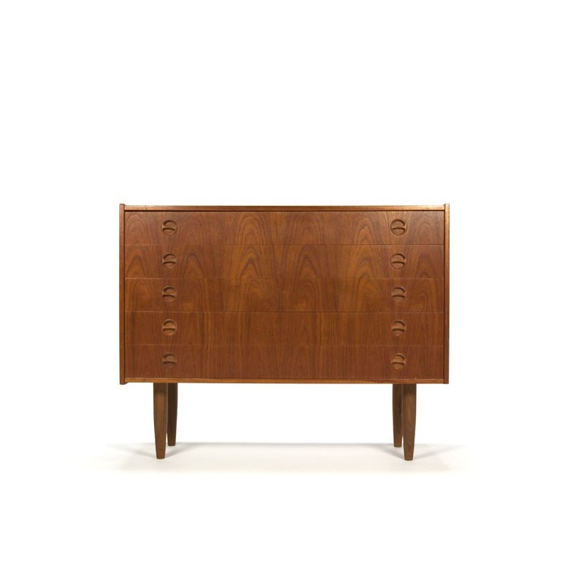 Danish dresser in teak with 5 drawers
