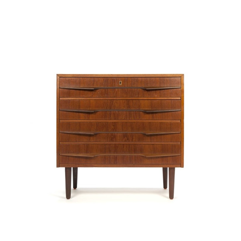 Danish chest of drawers with special handle