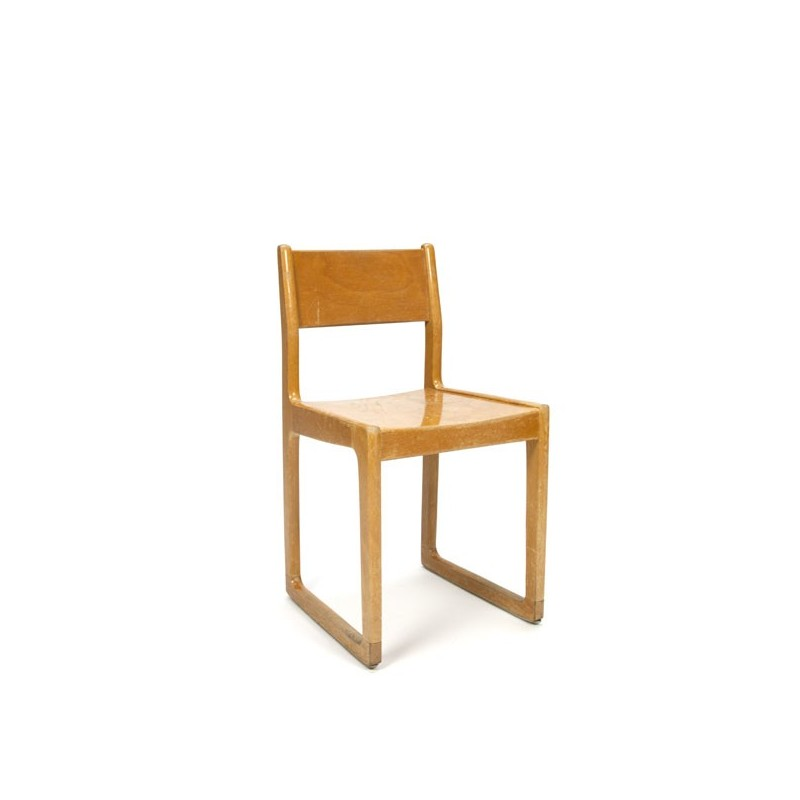 Design chair for children in wood