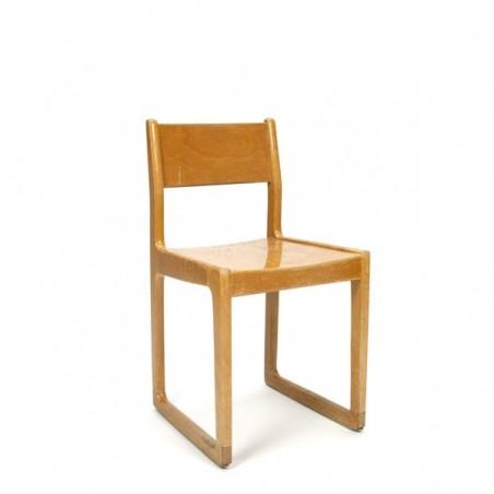 Design chair for children in wood