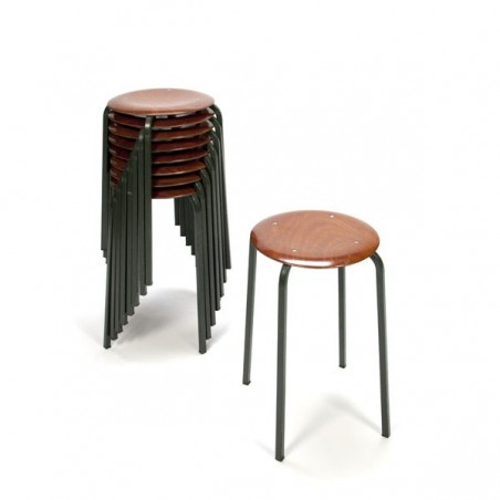 Set of 9 industrial stools