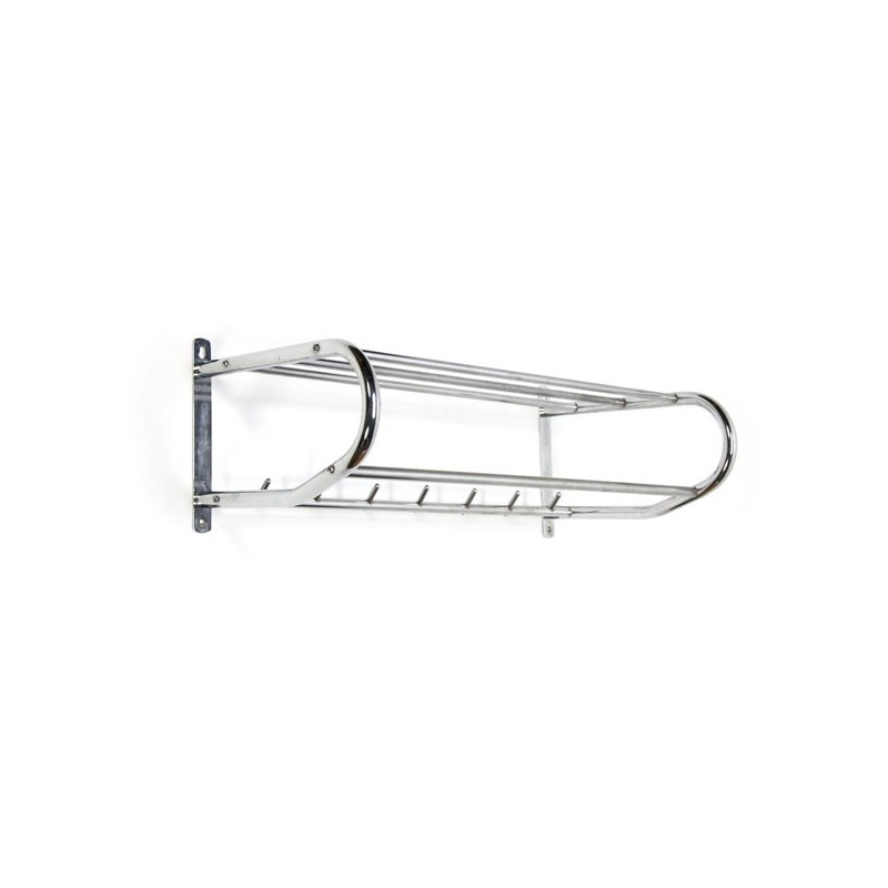 Chrome wall coat rack