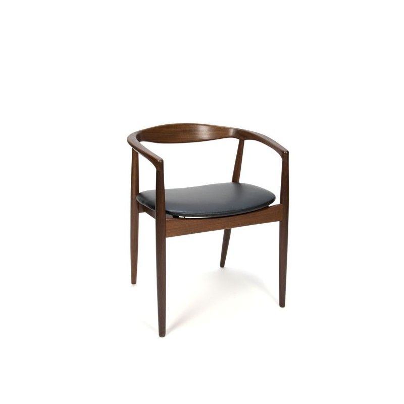 Kai Kristiansen desk chair in dark teak