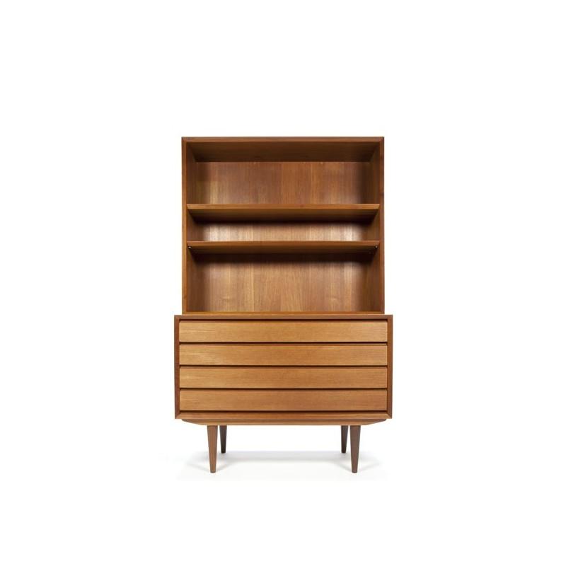Danish teak chest of drawers with bookshelves