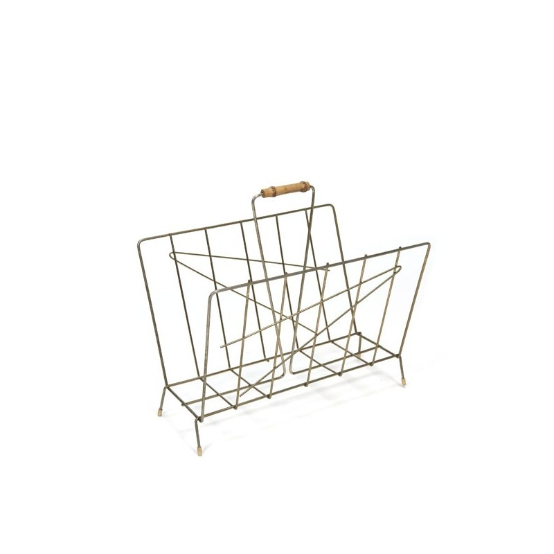 Brass newspaper rack 1960s