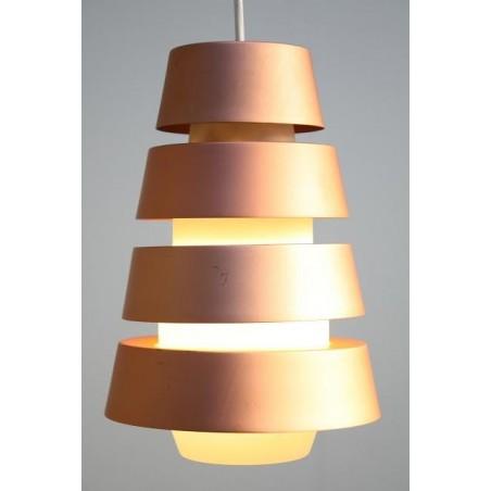 Scandinavian hanging lamp with glass