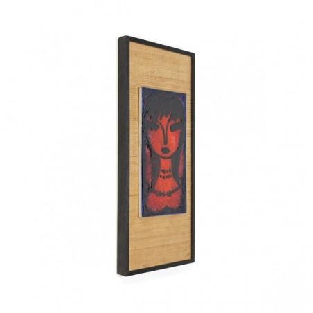 Wall tile on frame
