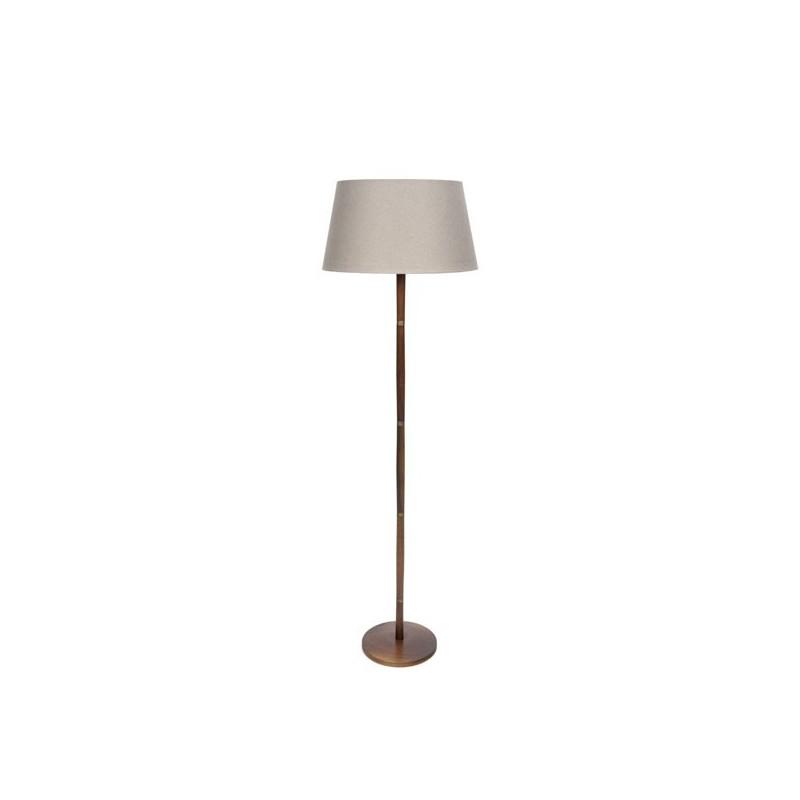 Deense vloerlamp met donker teak