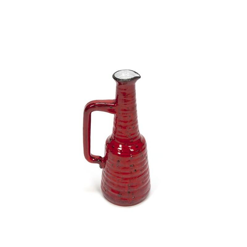 Rode vaas van aardewerk