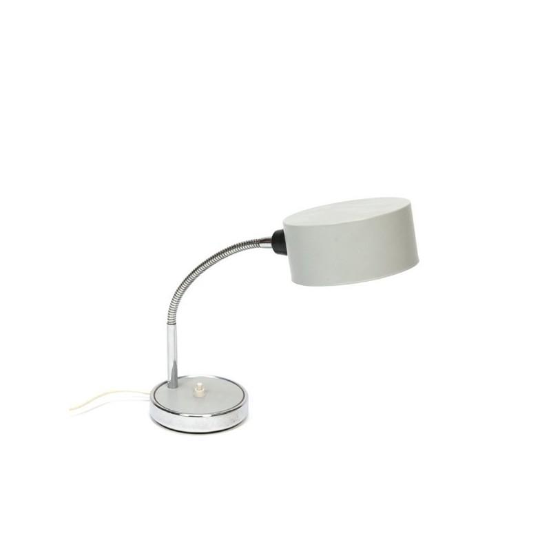 Grijze bureaulamp uit de 1960s