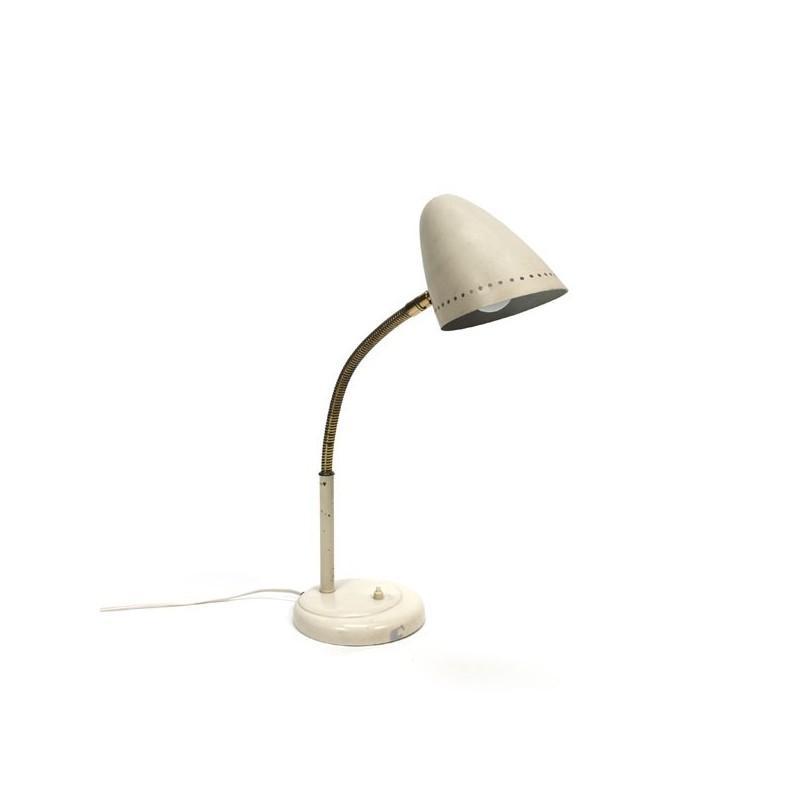 Bureaulamp uit de 1960's met koperen details