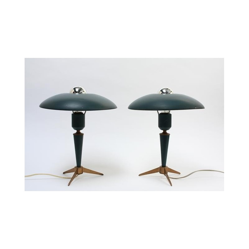 Philips table lamps by L.Kalff set of 2