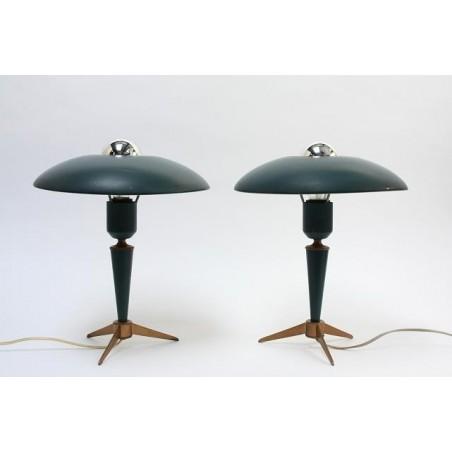 Philips tafellampen van L. Kalff set van 2