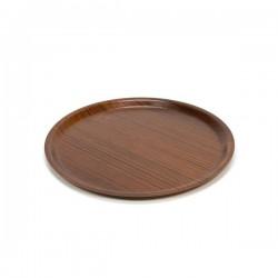 Round tray in teak