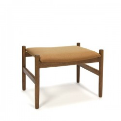 Teak ottoman with upholstery