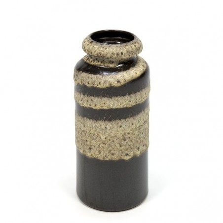 Vintage vase of ceramic cream/ brown