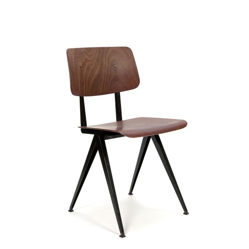 Industrial school chair by Galvanitas