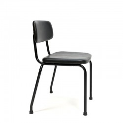 Ahrend chair from the sixties with black skai