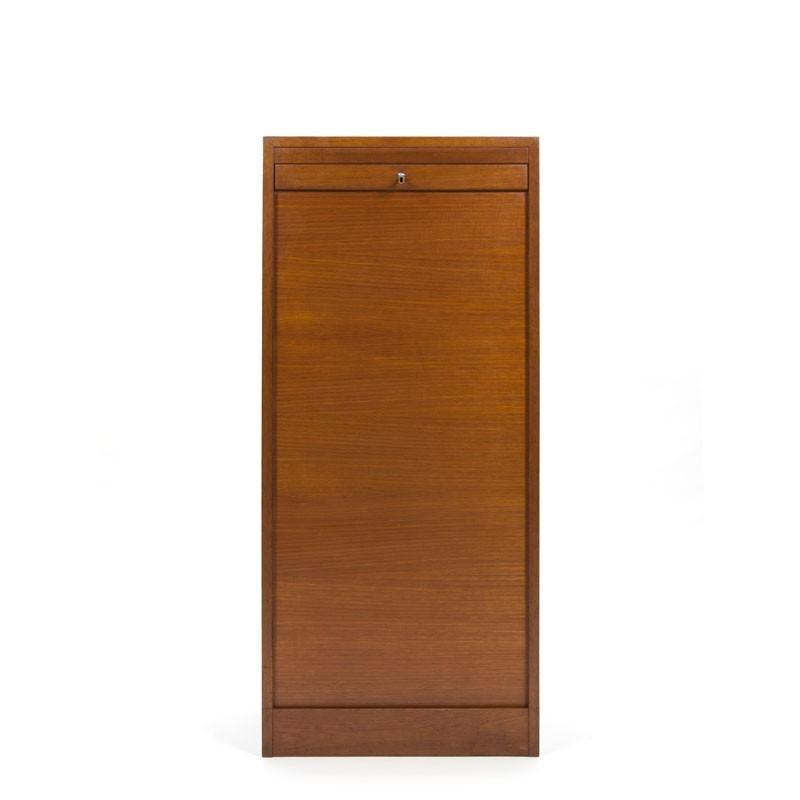 Filing cabinet with tambour door Danish design