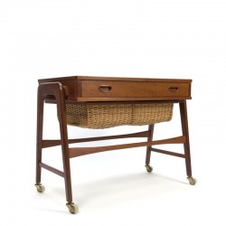 Danish side-/ sewing table in teak