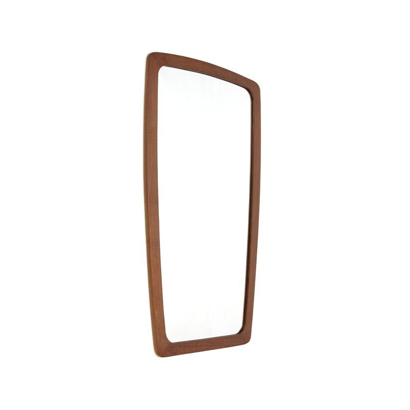 Mirror from Denmark with teak edge