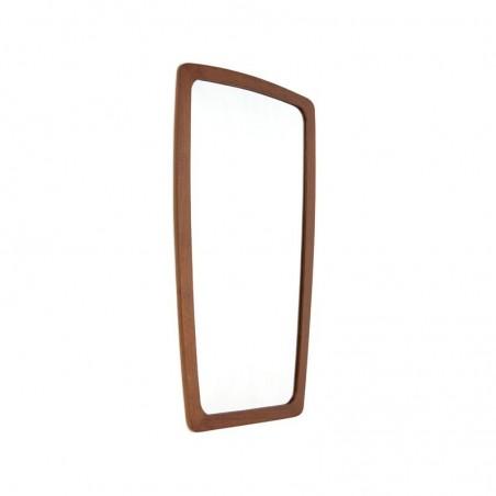 Mirror from Denmark with teak edge