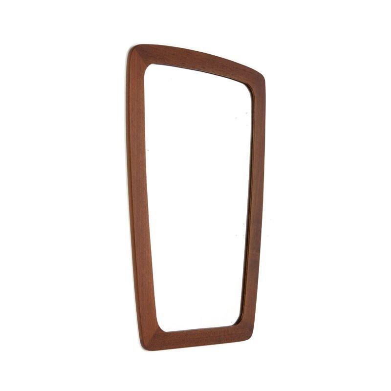 Teakhouten Deense design spiegel