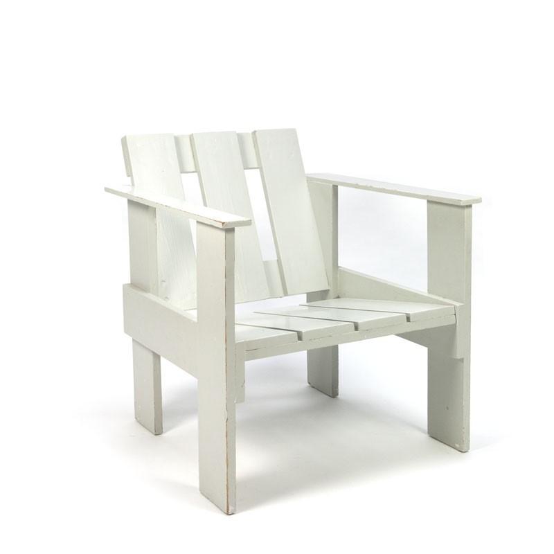 Krat stoel lichtgrijs
