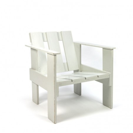 Crate chair light gray